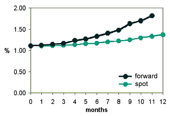 spot and forward curves